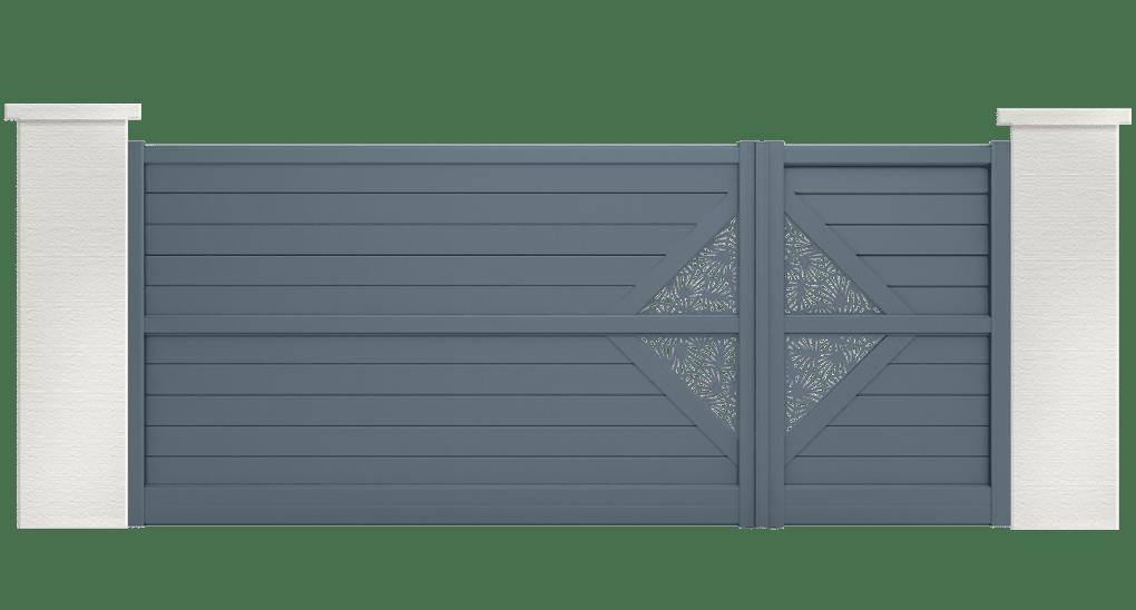 portail aluminium contemporain celestus