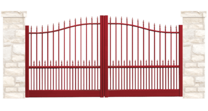 portail aluminium contemporain chateau