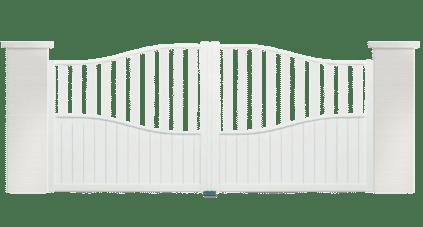 portail aluminium contemporain clair de lune