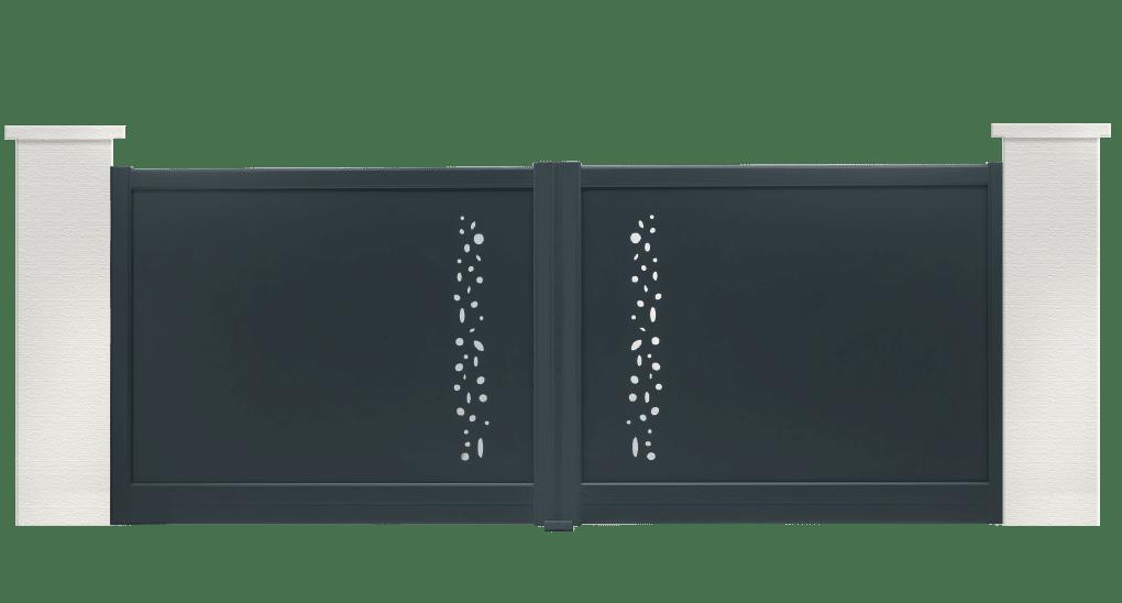 portail aluminium contemporain cobalt