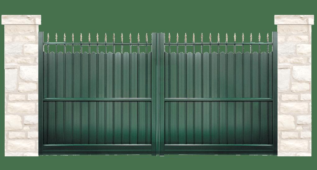 portail aluminium contemporain croisade