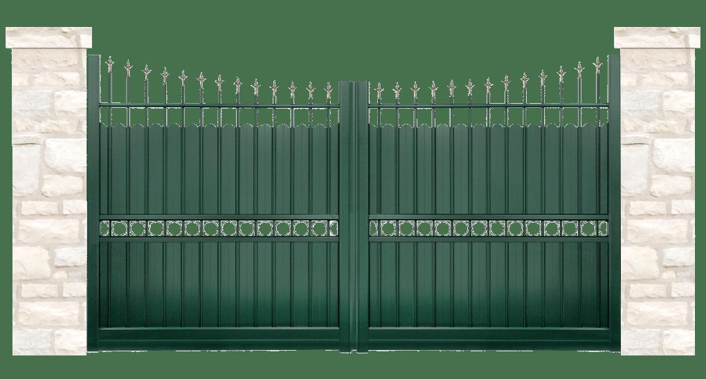 portail aluminium contemporain demeure