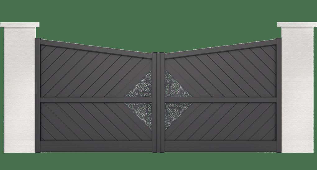 portail aluminium contemporain disco