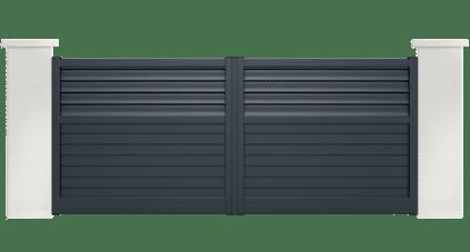 portail aluminium contemporain diva