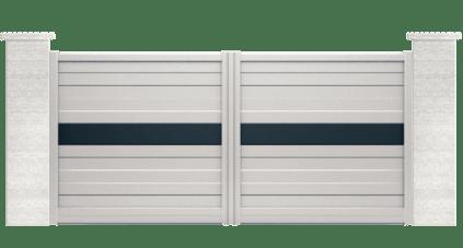 portail aluminium contemporain dormelle