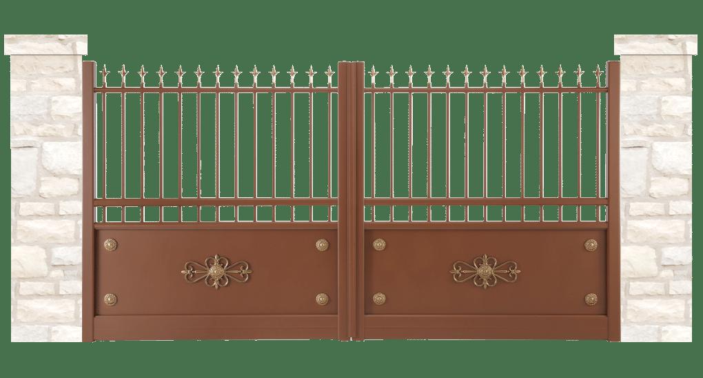 portail aluminium contemporain douve