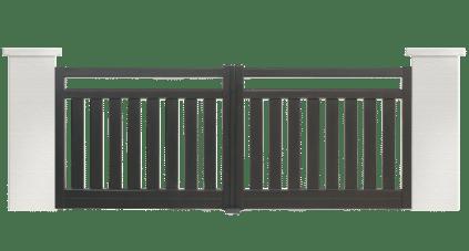portail aluminium contemporain farandole
