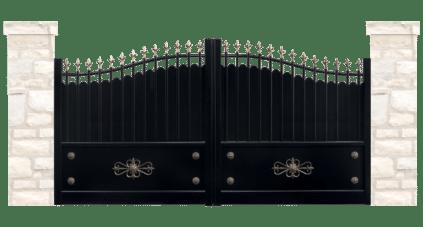 portail aluminium contemporain fresque