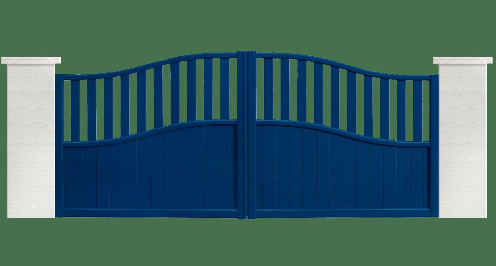 portail aluminium contemporain giboulee