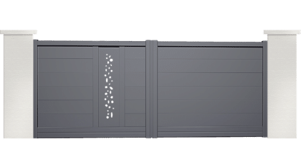 portail aluminium contemporain girelle