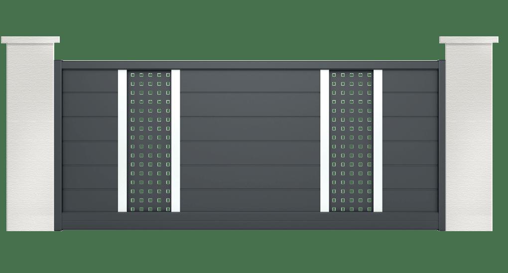 portail aluminium contemporain gospel