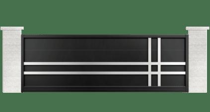 portail aluminium contemporain guzmania