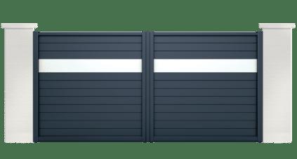 portail aluminium contemporain hegoa
