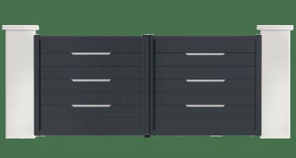 portail aluminium contemporain hood