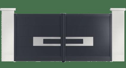 portail aluminium contemporain houston