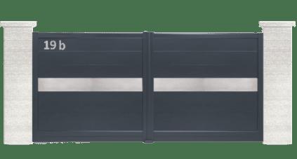 portail aluminium contemporain inoxium