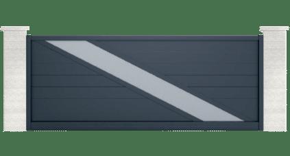 portail aluminium contemporain lampetra