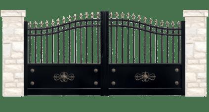 portail aluminium contemporain lettrine