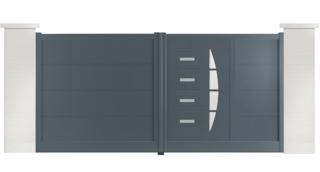 portail aluminium contemporain Lewis