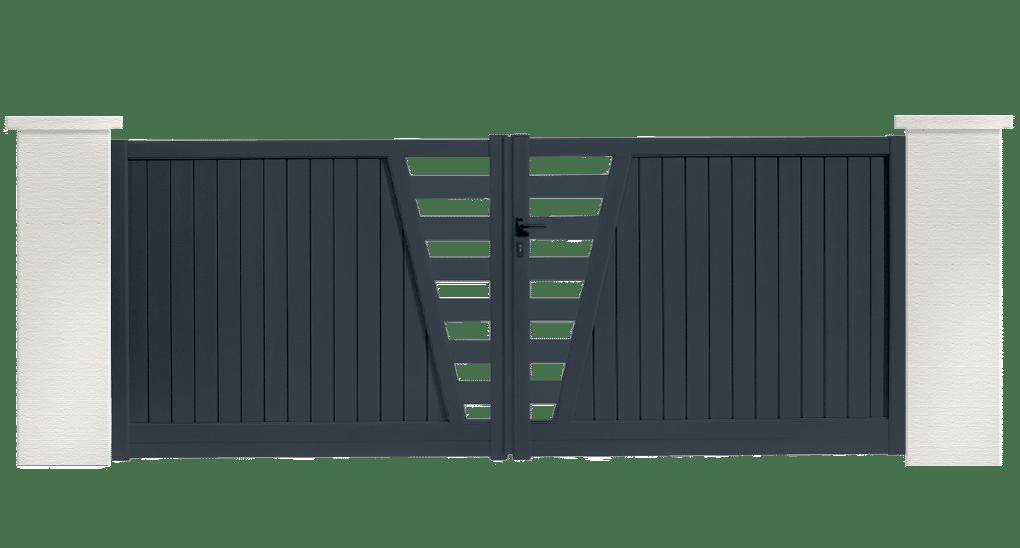 portail aluminium contemporain madison