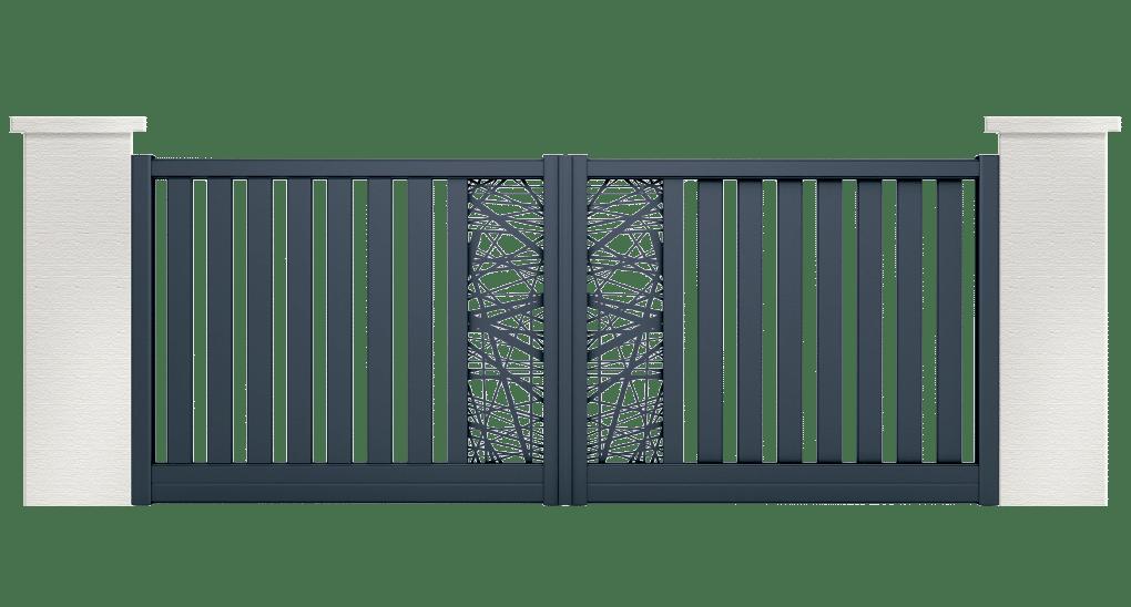 portail aluminium contemporain makaire