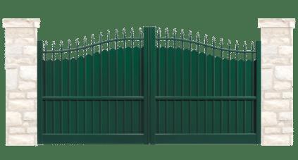 portail aluminium contemporain margelle