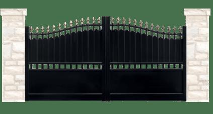 portail aluminium contemporain menhir