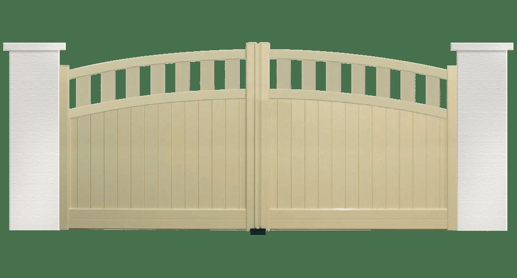 portail aluminium contemporain merengue