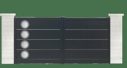 portail aluminium contemporain milonga