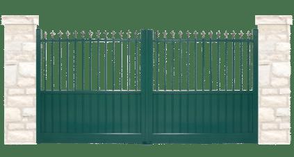 portail aluminium contemporain moulin