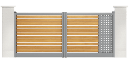 portail aluminium contemporain nertera