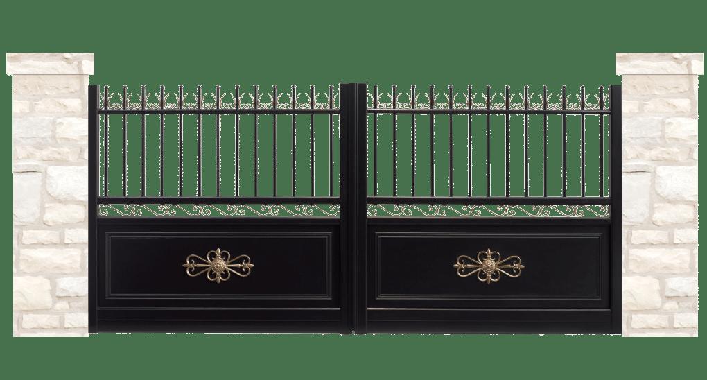 portail aluminium contemporain noble
