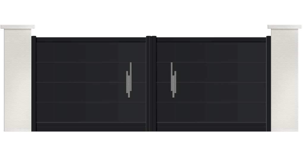 portail aluminium contemporain opale