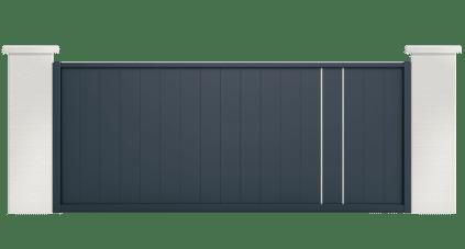 portail aluminium contemporain orion