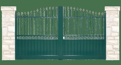 portail aluminium contemporain palis
