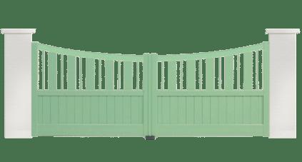 portail aluminium contemporain paso doble