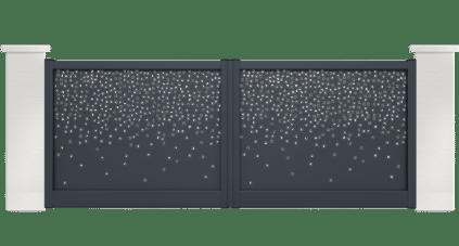 portail aluminium contemporain platine