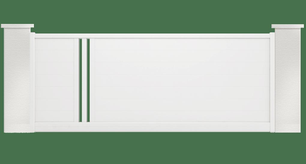 portail aluminium contemporain popillo