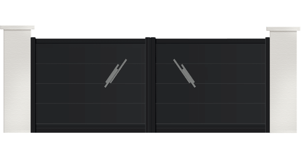 portail aluminium contemporain pyrite