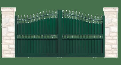 portail aluminium contemporain retable