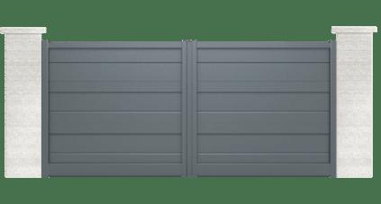 portail aluminium contemporain rétro