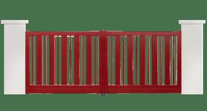 portail aluminium contemporain ridee