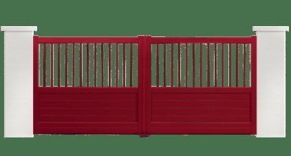 portail aluminium contemporain ronde