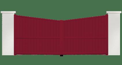 portail aluminium contemporain Rosee
