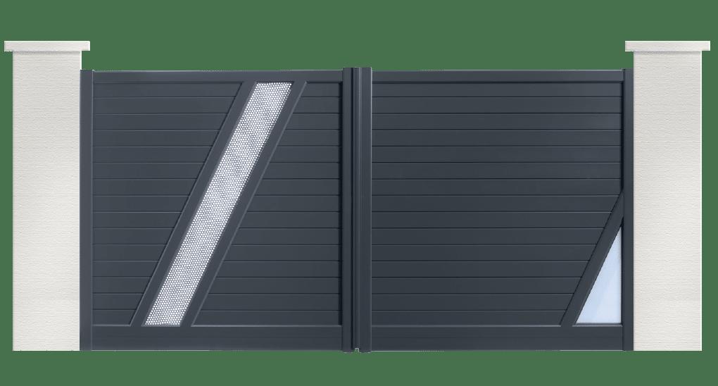 portail aluminium contemporain rumba