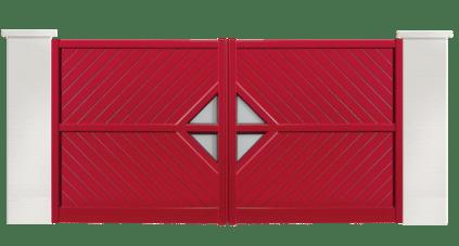 portail aluminium contemporain sega