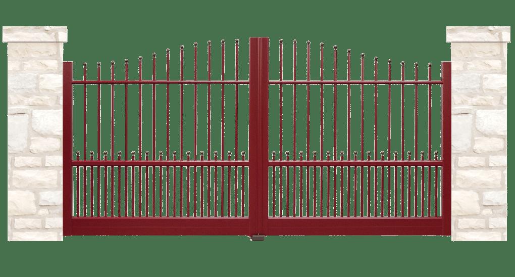 portail aluminium traditionnel sentier