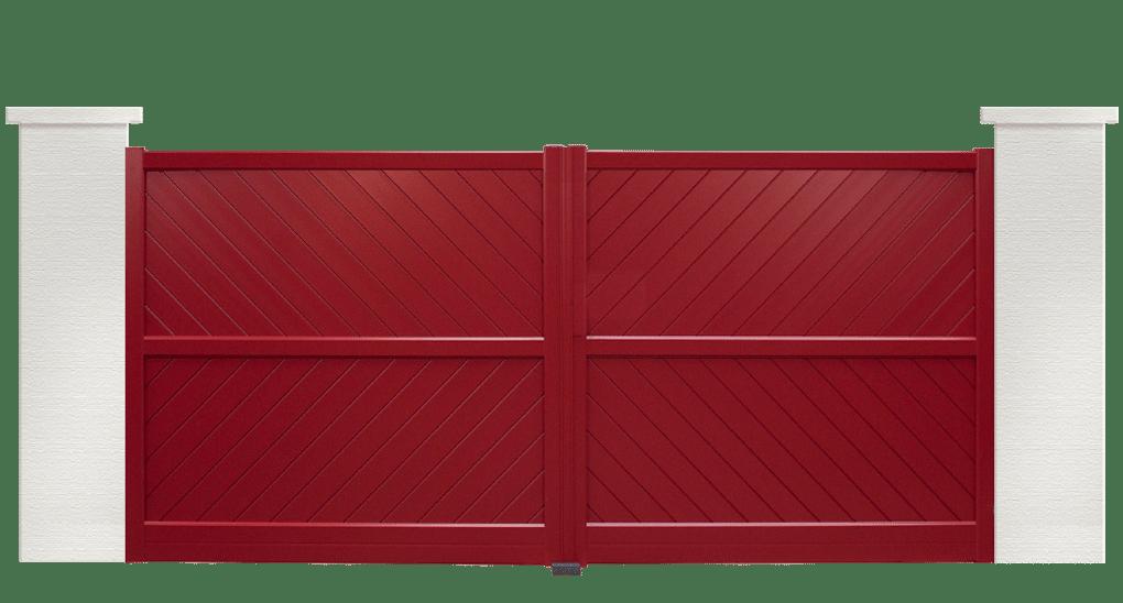 portail aluminium contemporain sirtaki