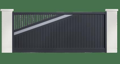 portail aluminium contemporain slow