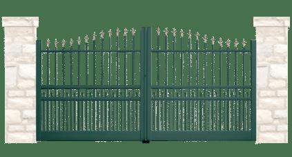 portail aluminium contemporain souterrain